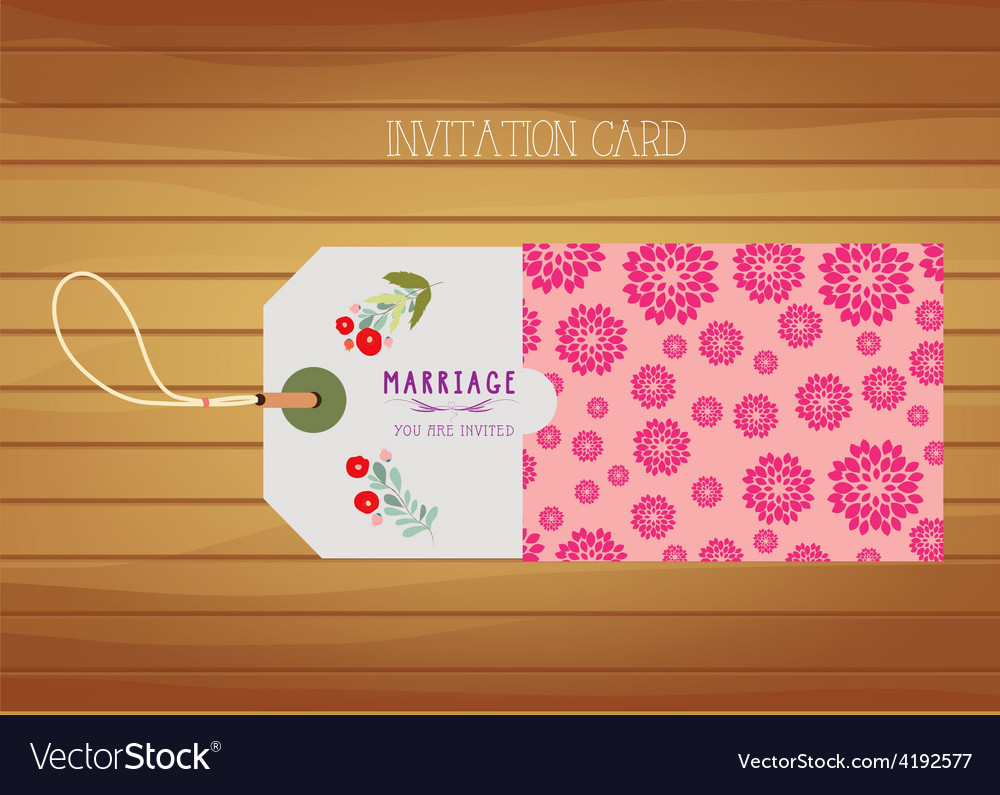 Wedding stationery invitation card vector | Price: 1 Credit (USD $1)