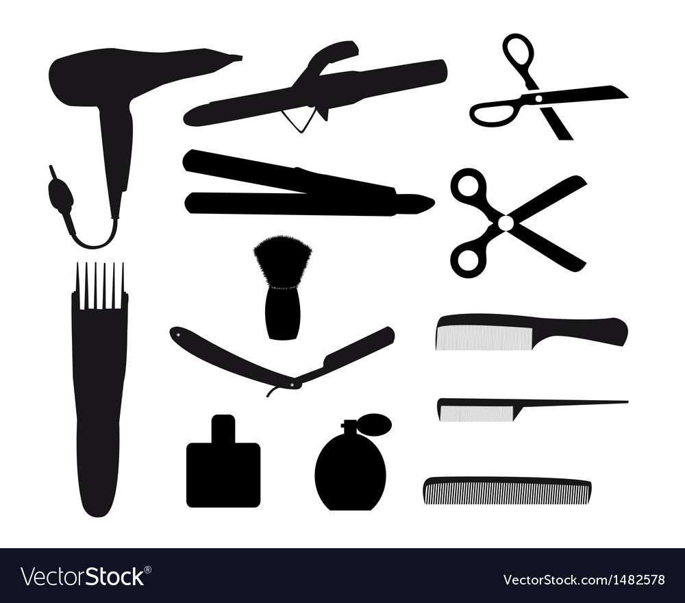 Barber tools vector | Price: 1 Credit (USD $1)