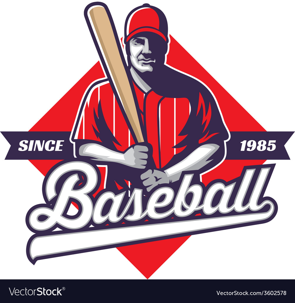 Baseball player hold a bat vector | Price: 3 Credit (USD $3)
