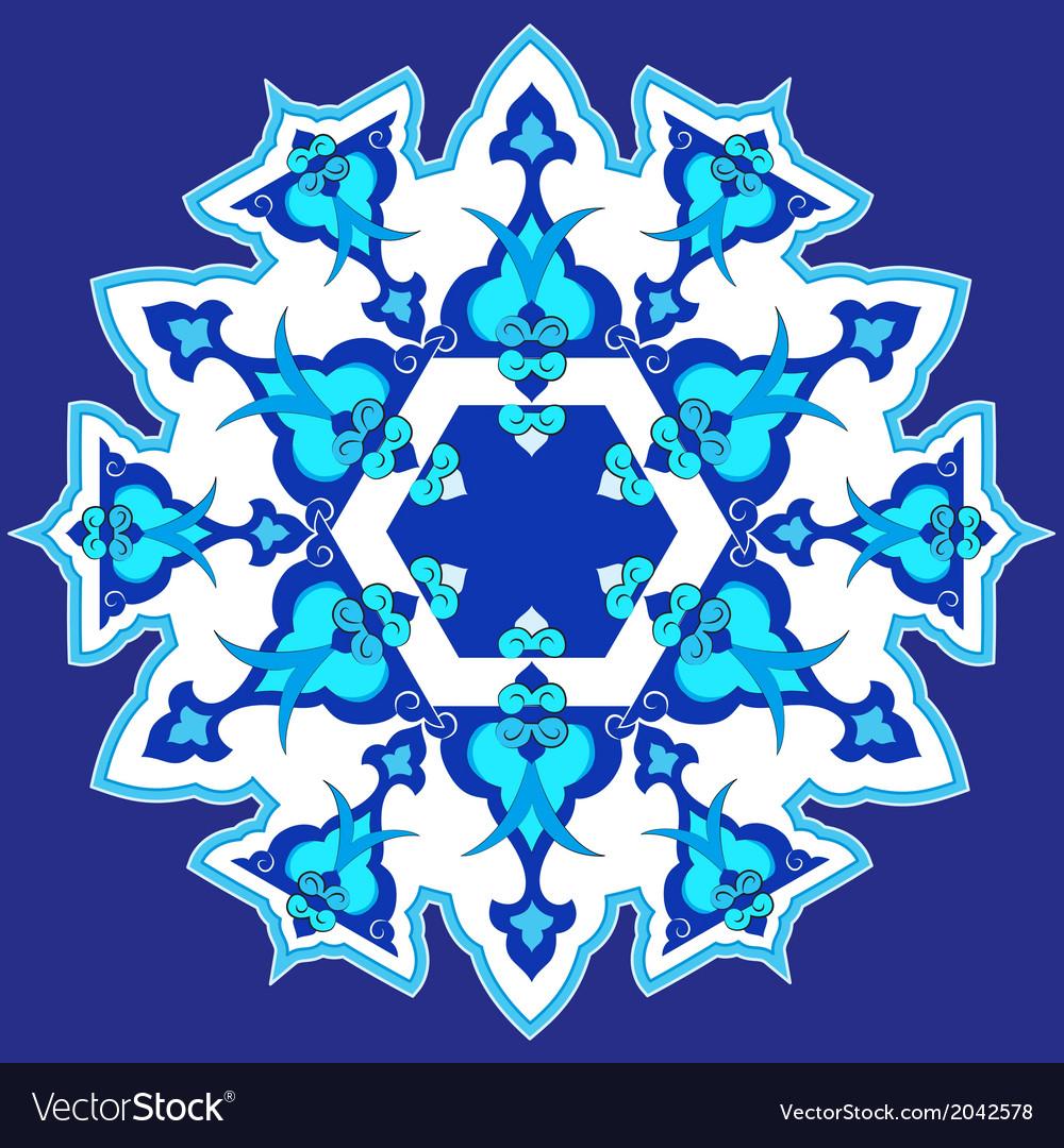 Blue oriental ottoman design thirty vector | Price: 1 Credit (USD $1)