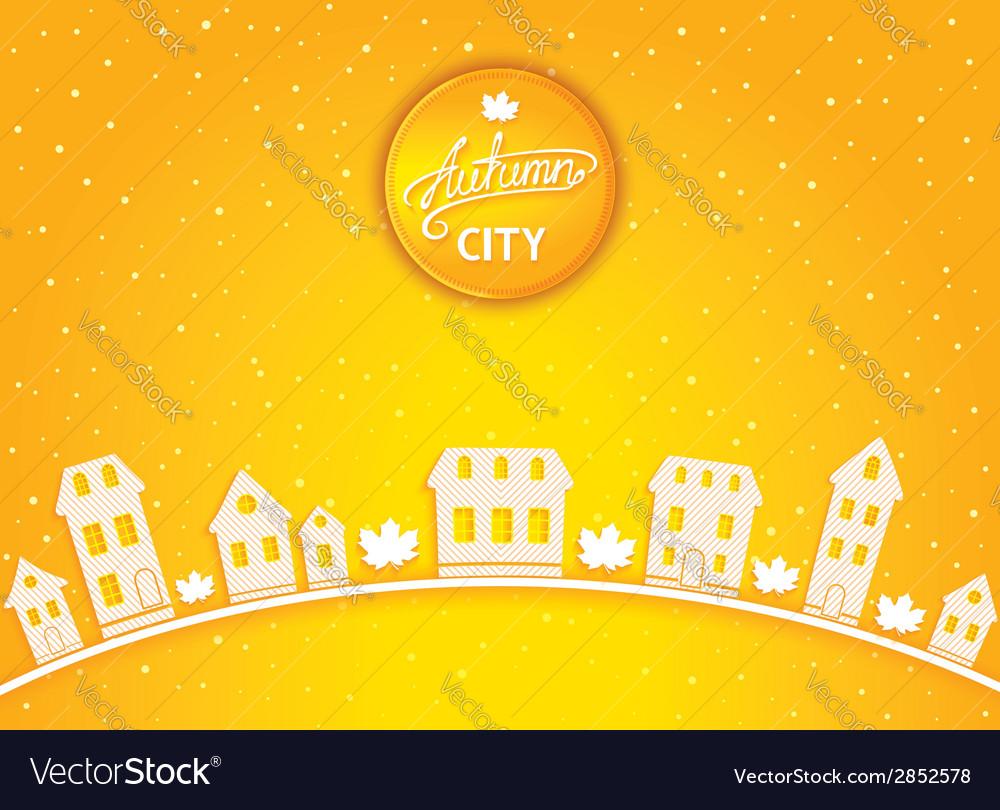 Cartoon autumn city vector | Price: 1 Credit (USD $1)