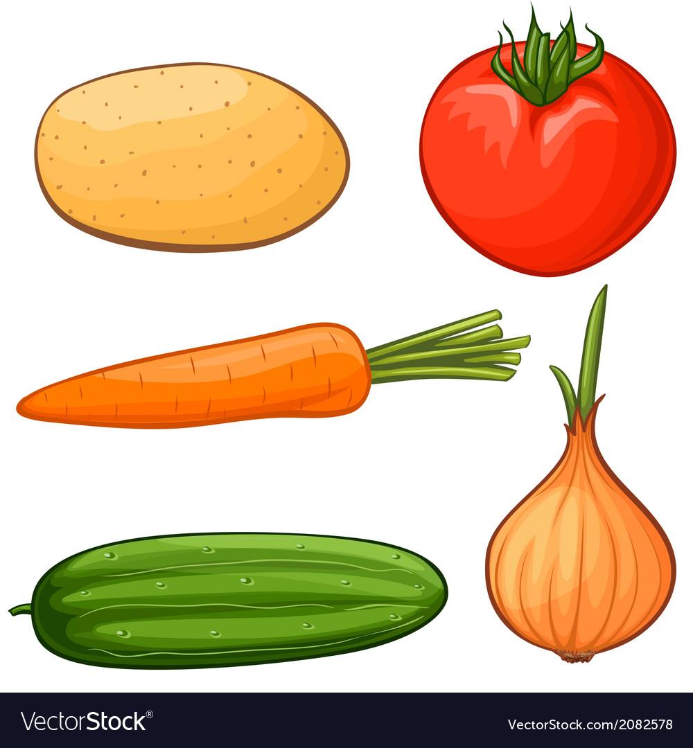 Cartoon vegetables vector | Price: 1 Credit (USD $1)