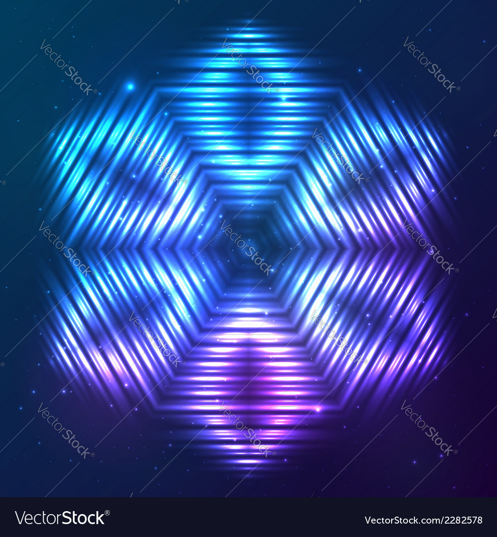 Cosmic shining abstract star vector | Price: 1 Credit (USD $1)