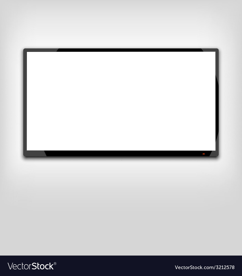 Lcd or led tv screen hanging on the wall - vector | Price: 1 Credit (USD $1)