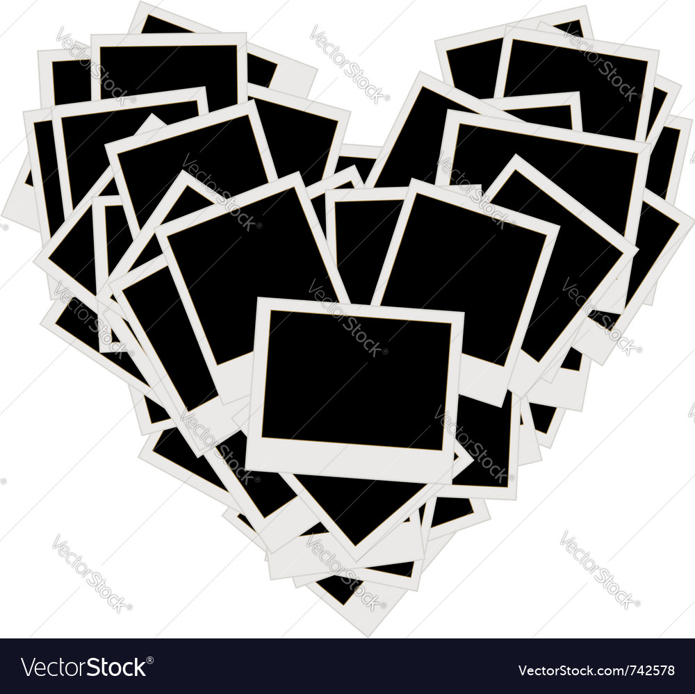 Photos heart shape vector | Price: 1 Credit (USD $1)