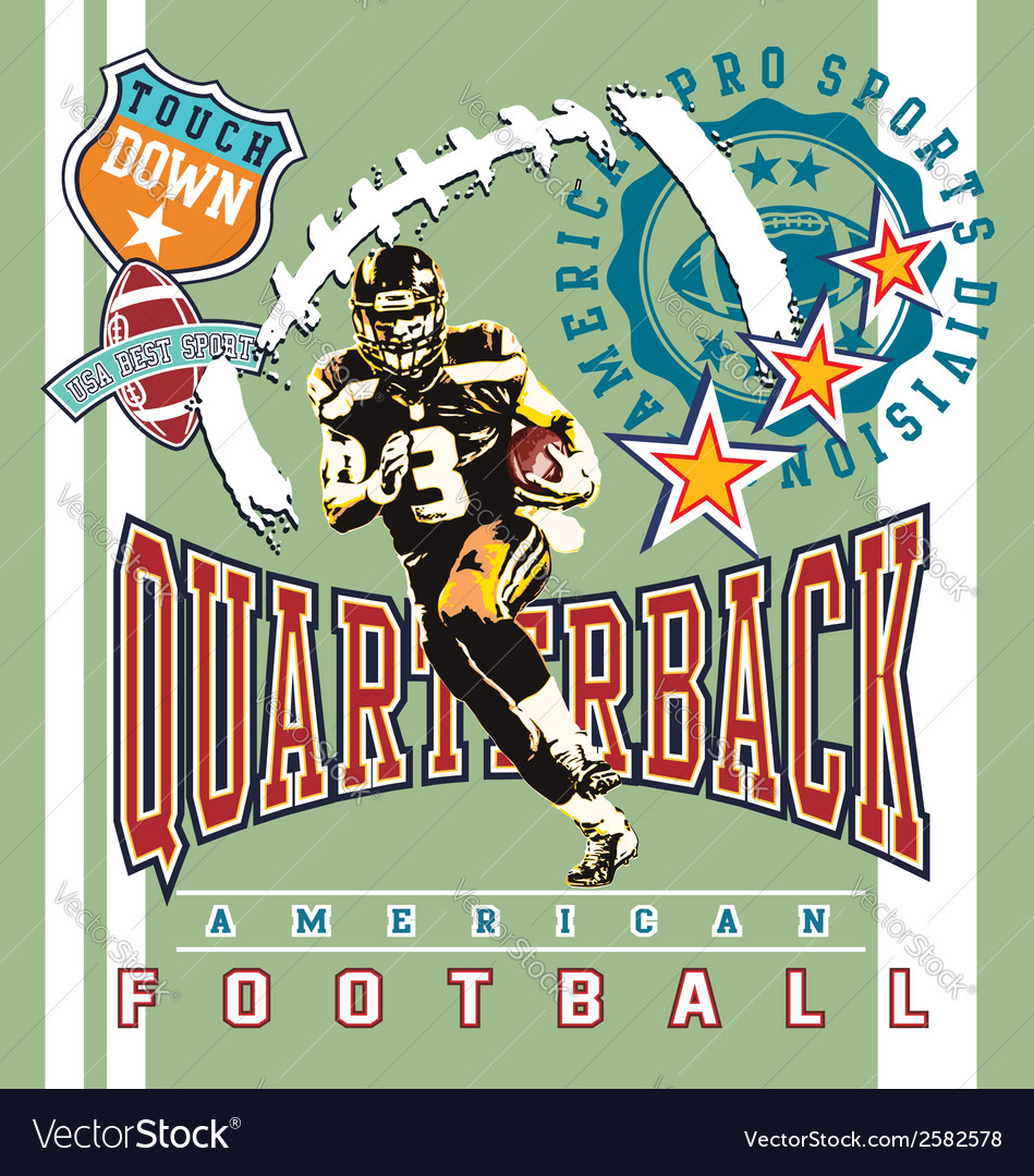 Quarterback football vector | Price: 3 Credit (USD $3)
