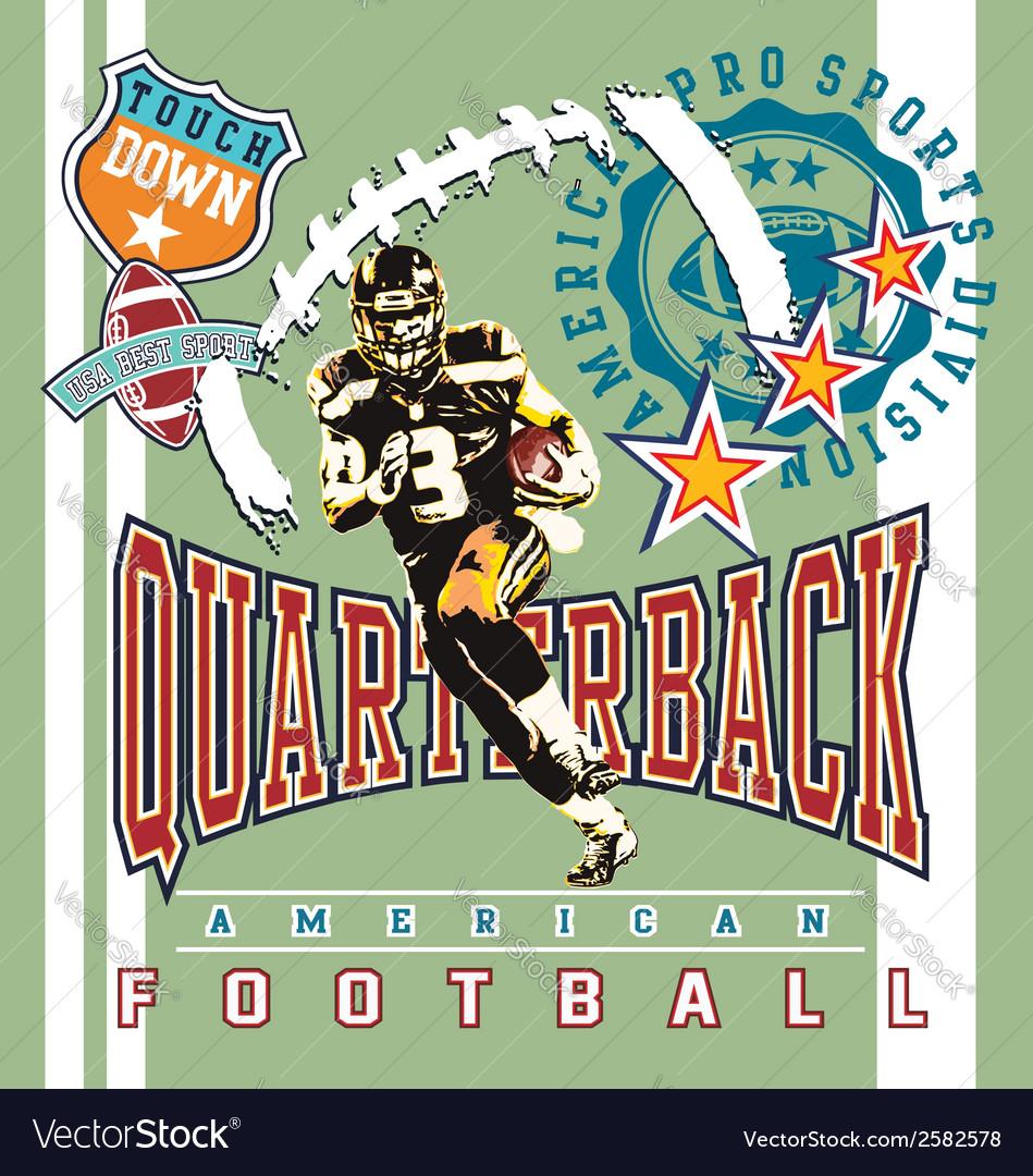 Quarterback football vector | Price: 3 Credit (USD $3)
