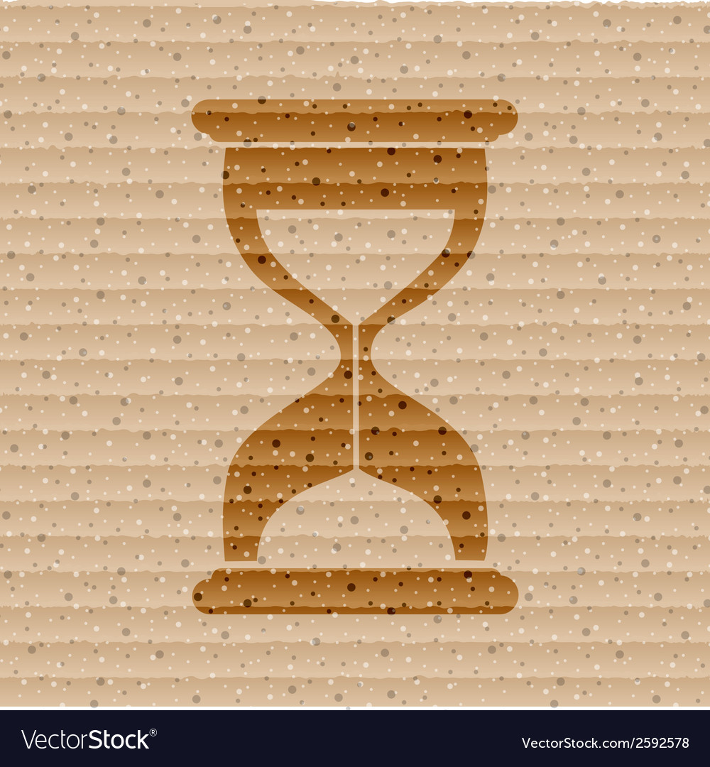 Sand clock glass timer  flat modern web button and vector | Price: 1 Credit (USD $1)