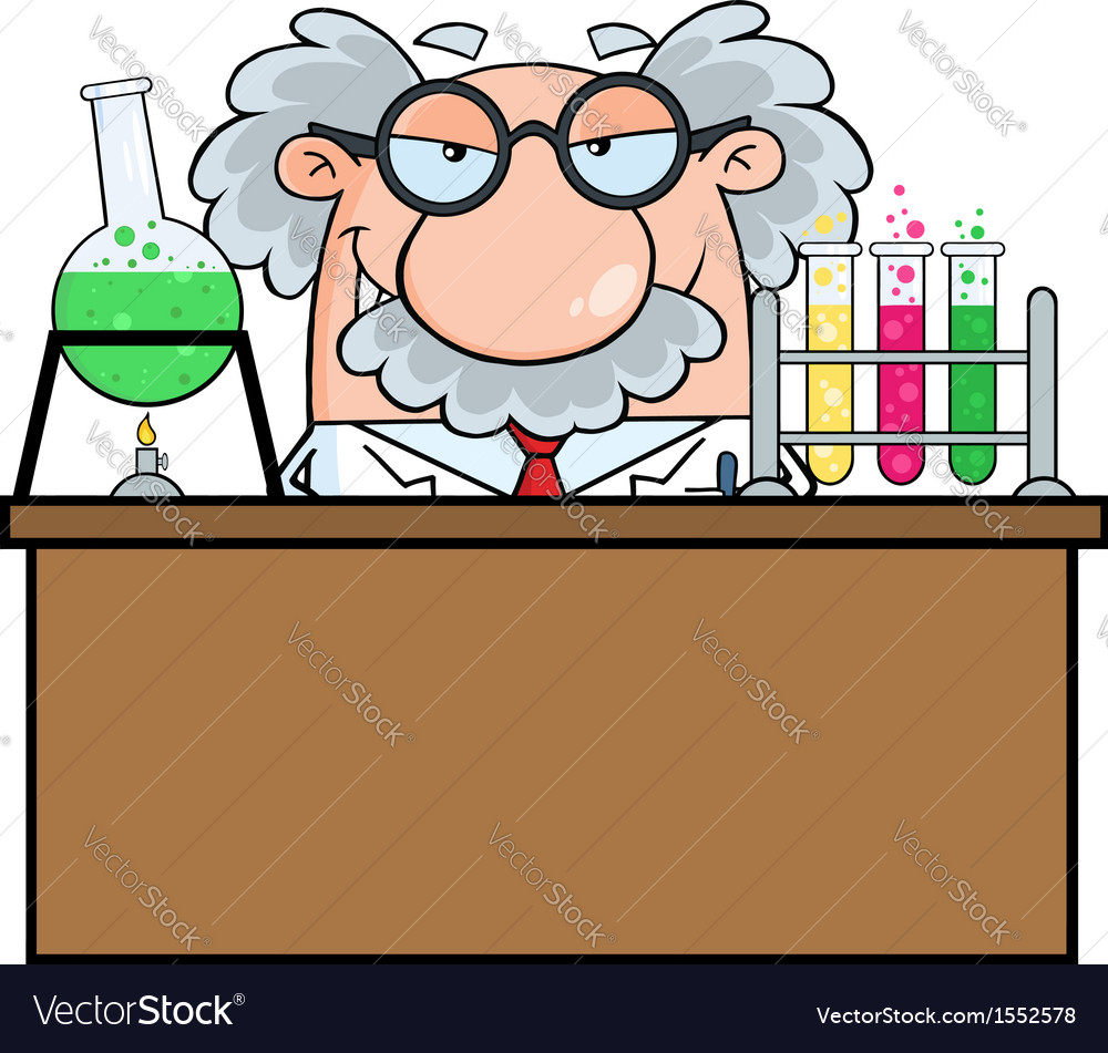 Scientist cartoon vector | Price: 1 Credit (USD $1)