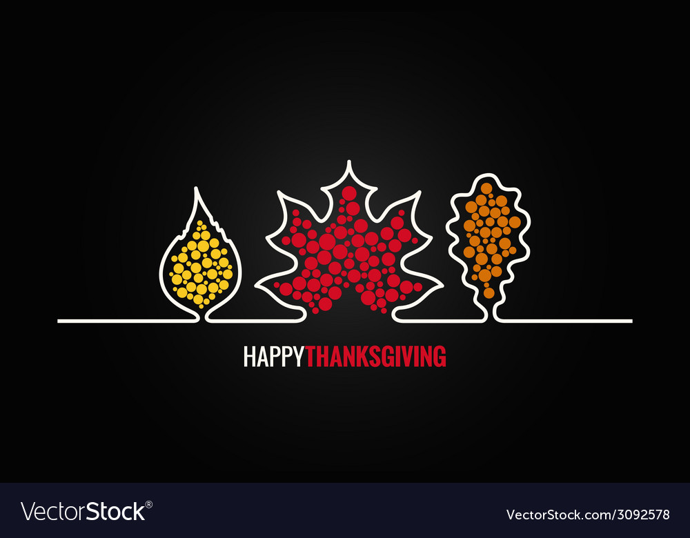 Thanksgiving autumn leaves design background vector | Price: 1 Credit (USD $1)