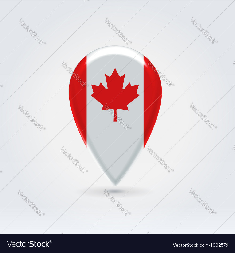 Canadian icon point for map vector | Price:  Credit (USD $)