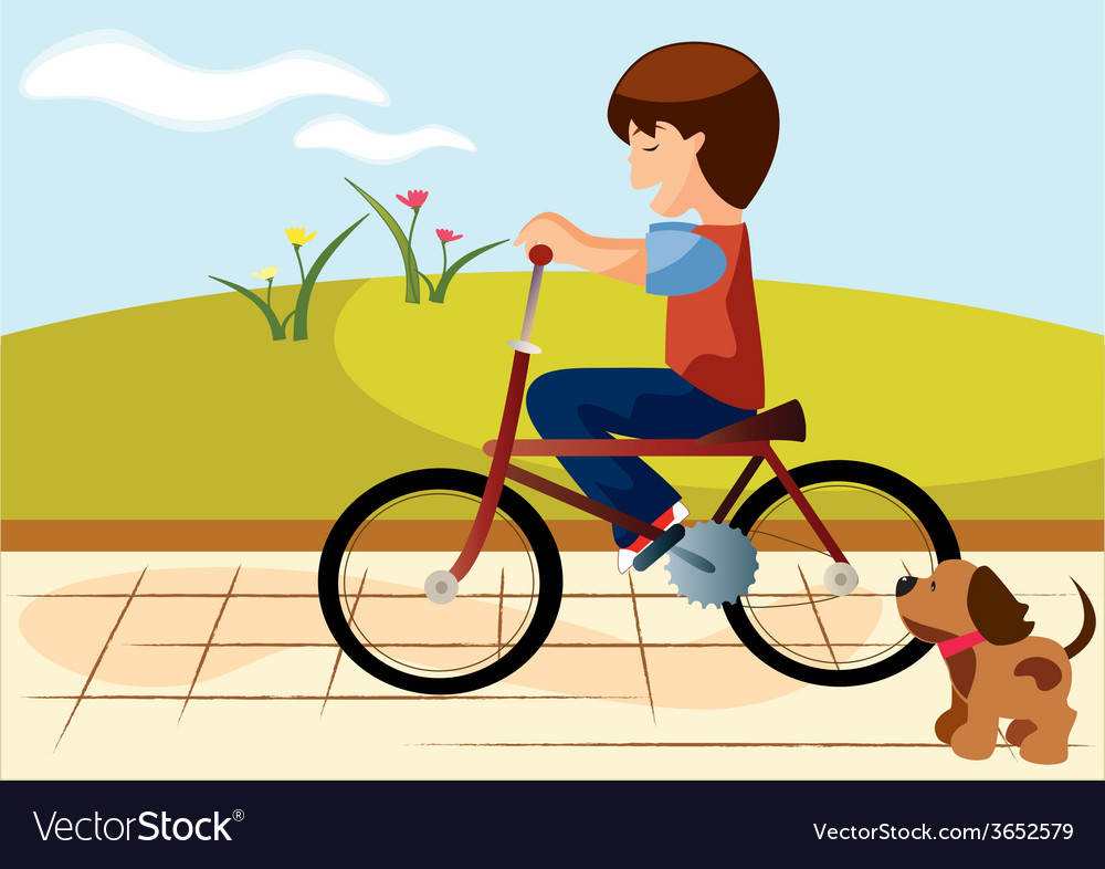 Child-bike vector | Price: 1 Credit (USD $1)