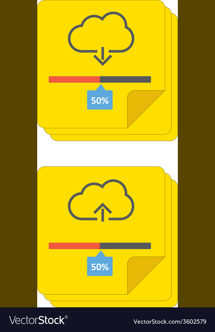 Cloud download and upload 6 vector | Price: 1 Credit (USD $1)