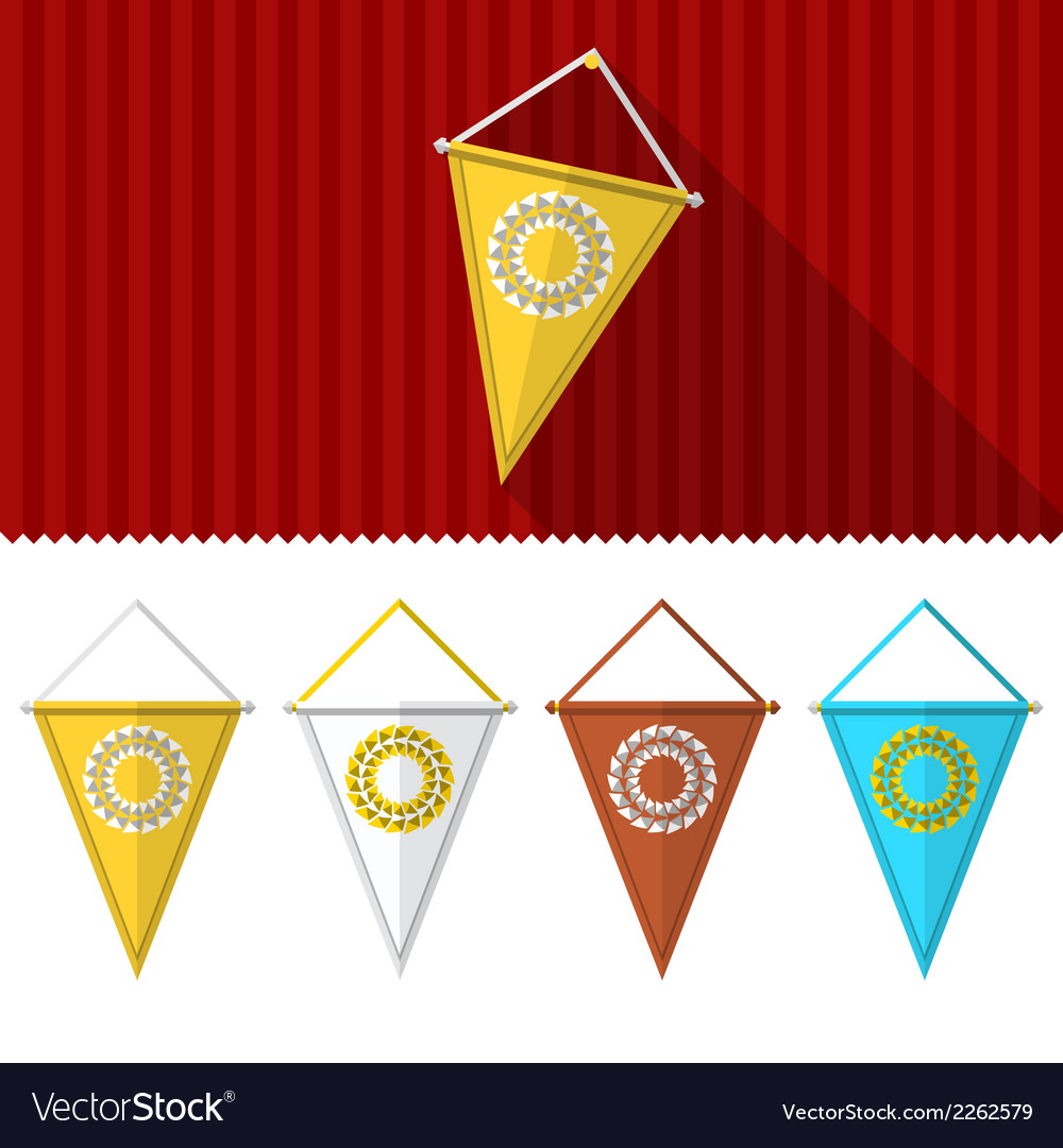 Flat of triangular pennants vector | Price: 1 Credit (USD $1)