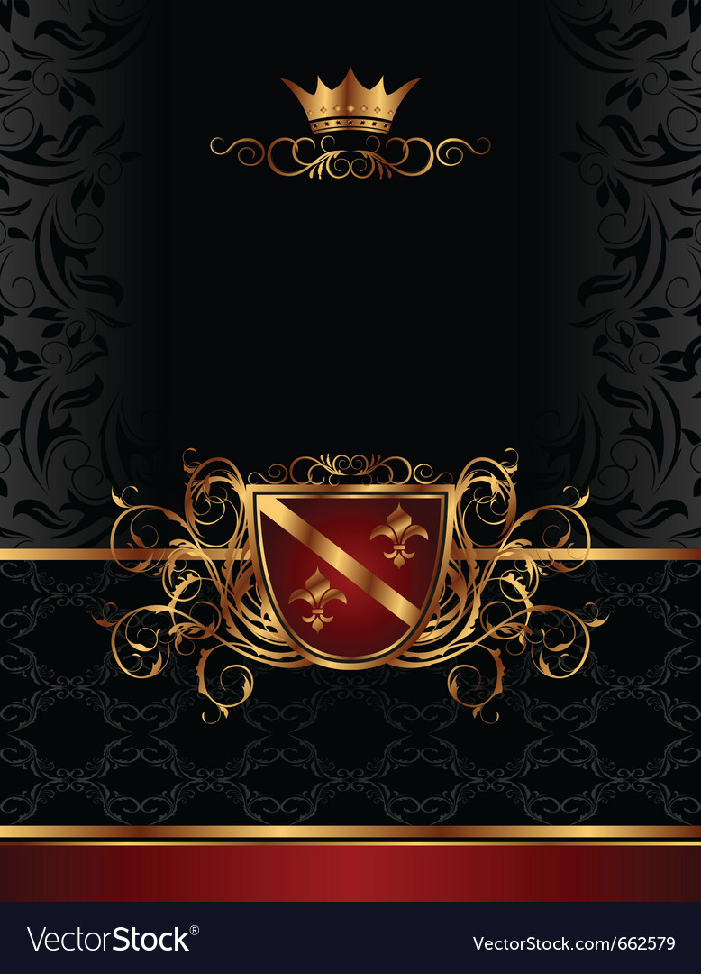 Golden vintage frame for design packing- vector | Price: 1 Credit (USD $1)