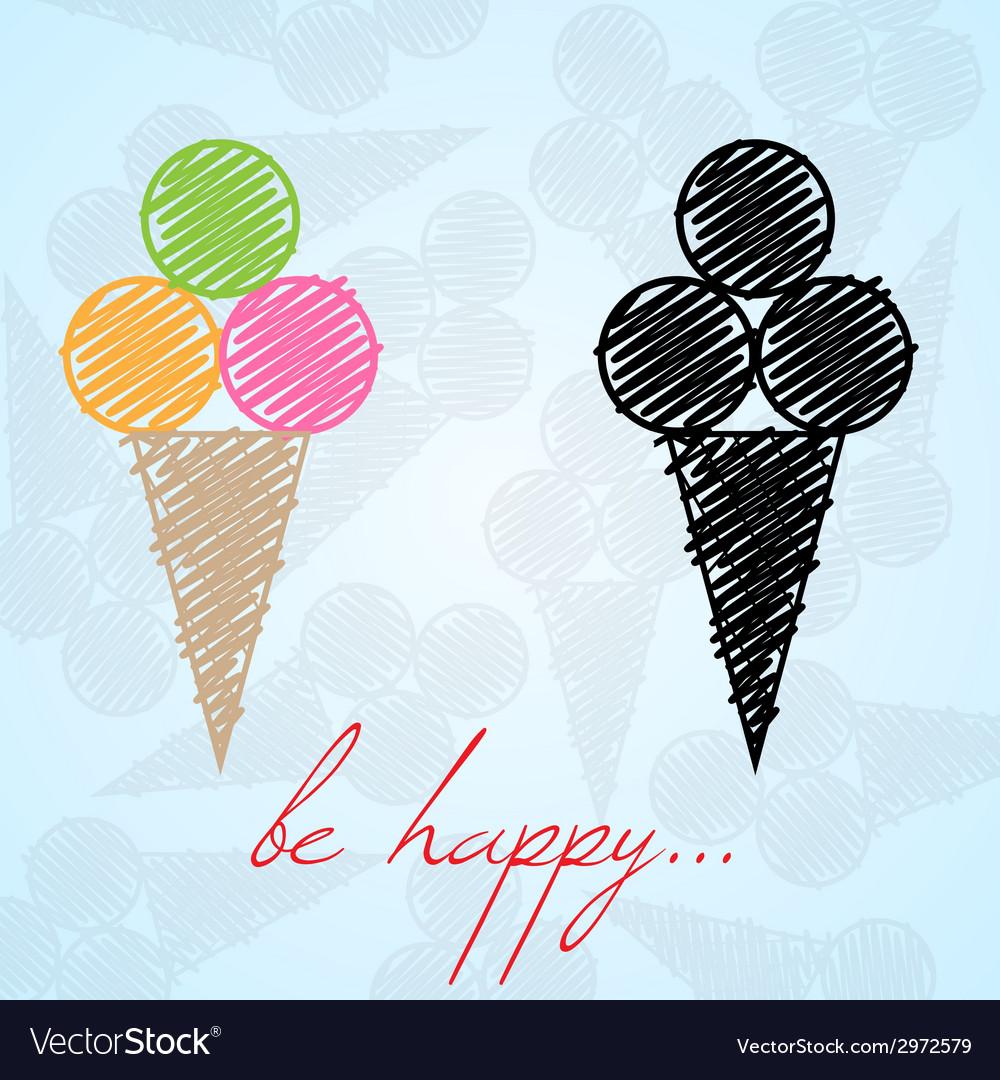 Ice cream background vector   Price: 1 Credit (USD $1)