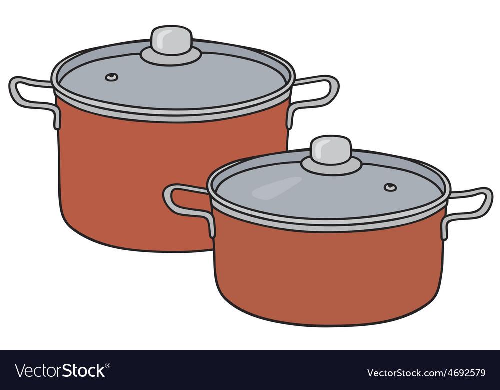 Red pots vector   Price: 1 Credit (USD $1)