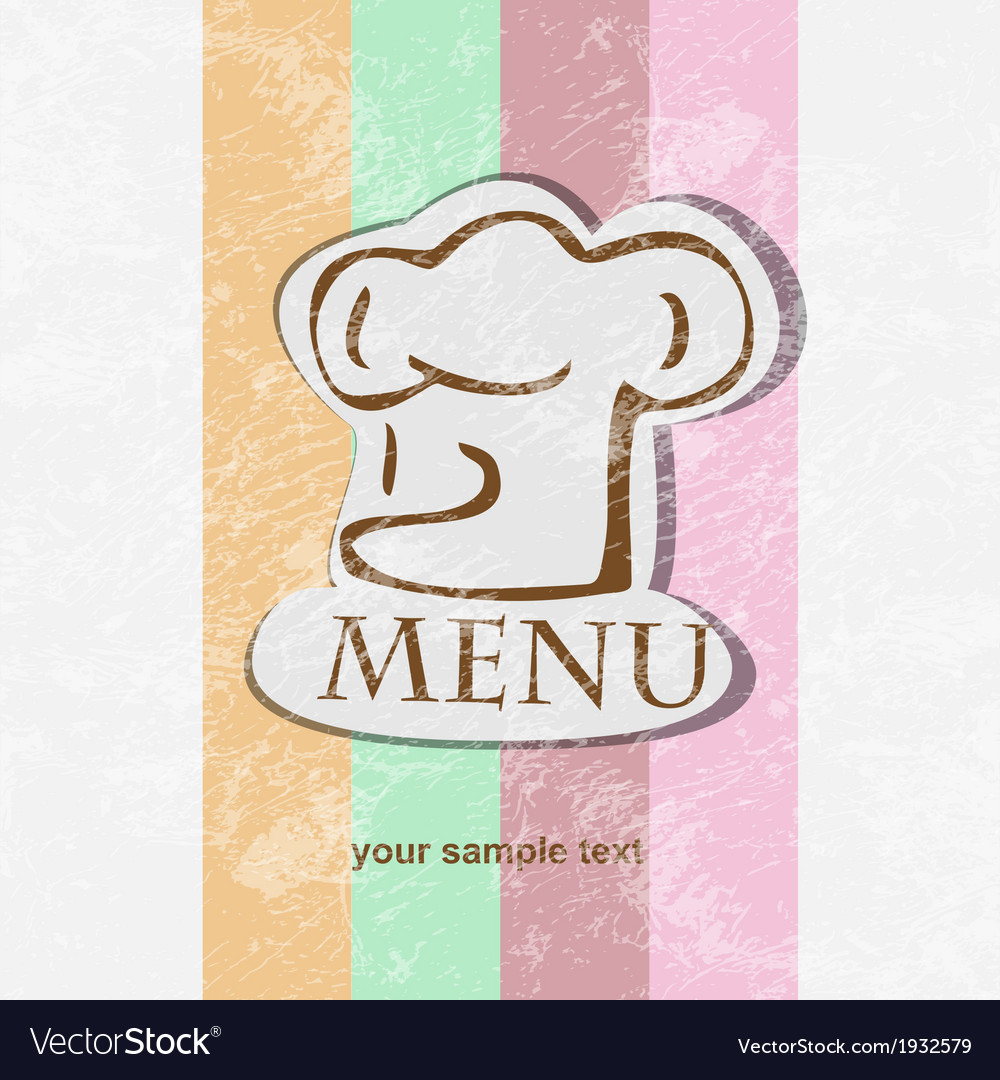 Restaurant menu design retro poster vector | Price: 1 Credit (USD $1)