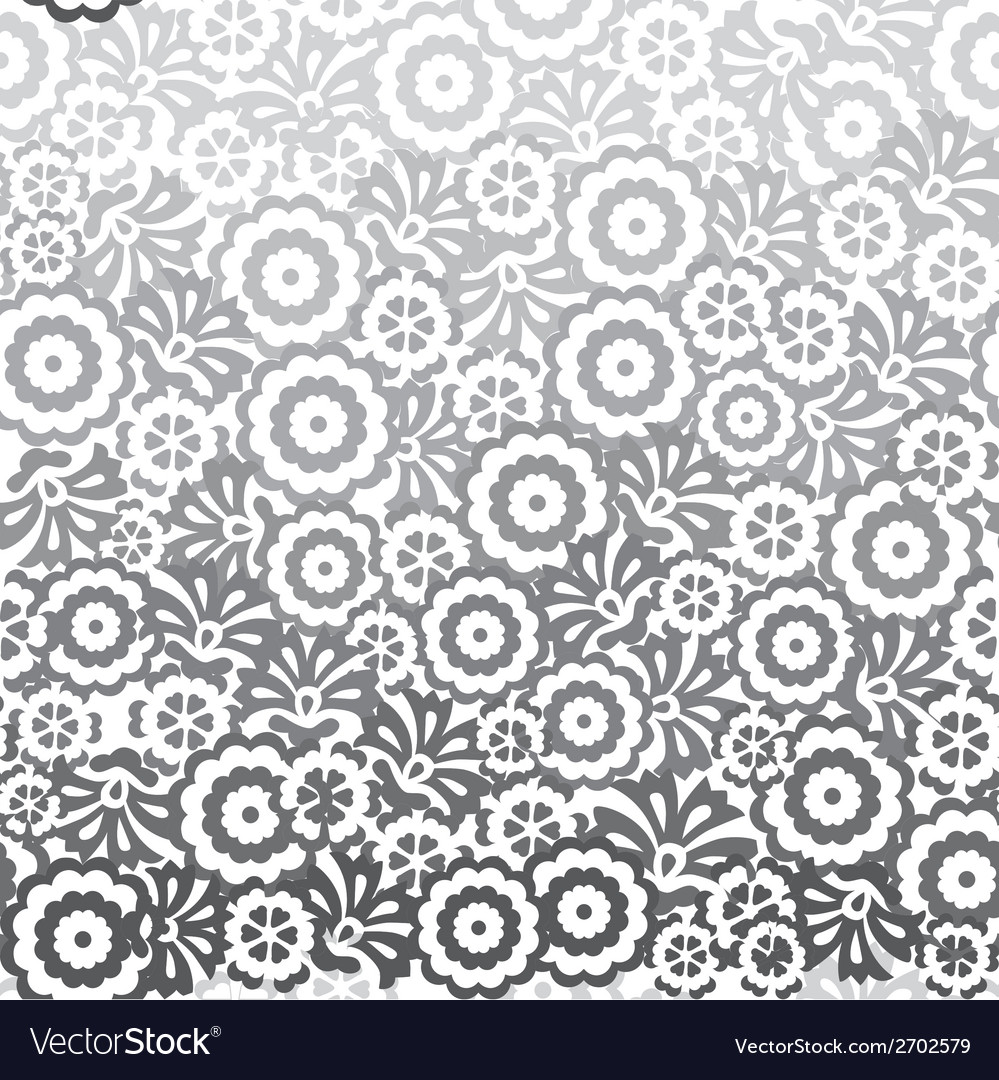 Seamless background with flowers vector | Price: 1 Credit (USD $1)