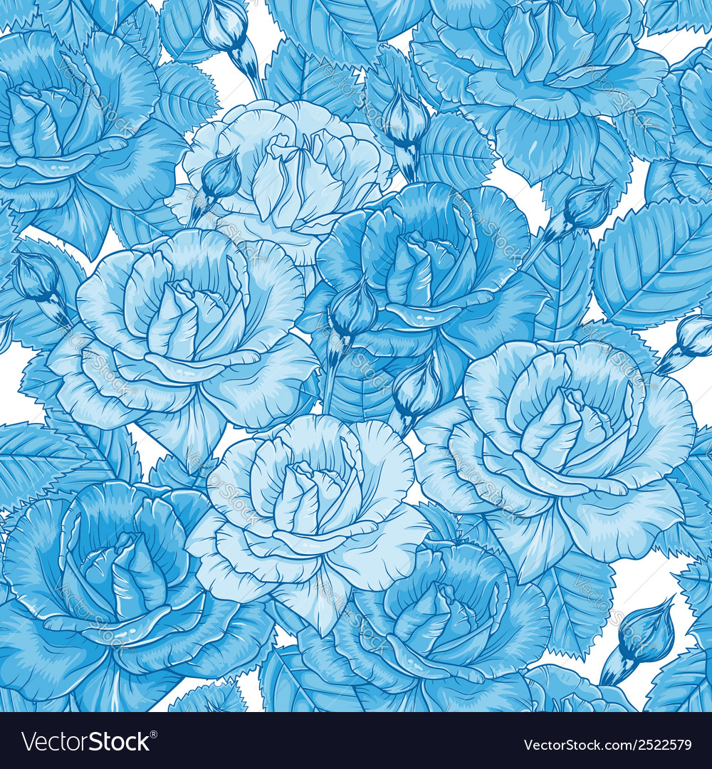 Seamless floral pattern with roses vector | Price: 1 Credit (USD $1)