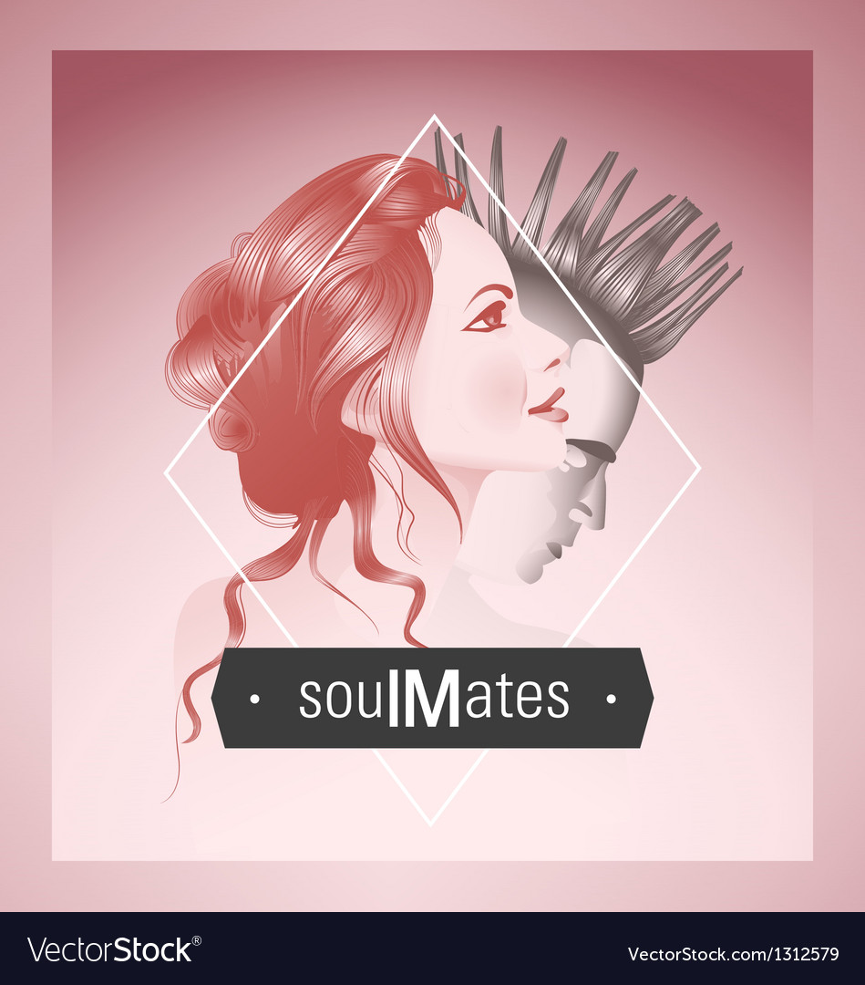 Soul mates vector | Price:  Credit (USD $)