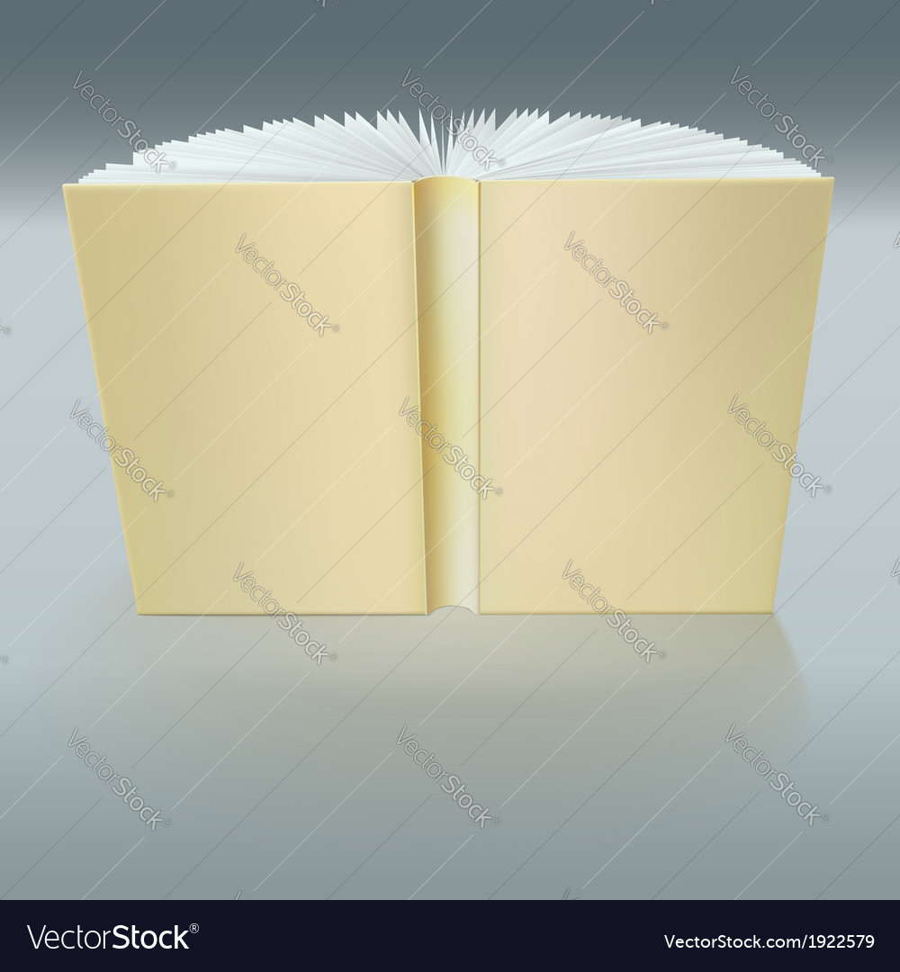Standing open book with pages vector | Price: 1 Credit (USD $1)