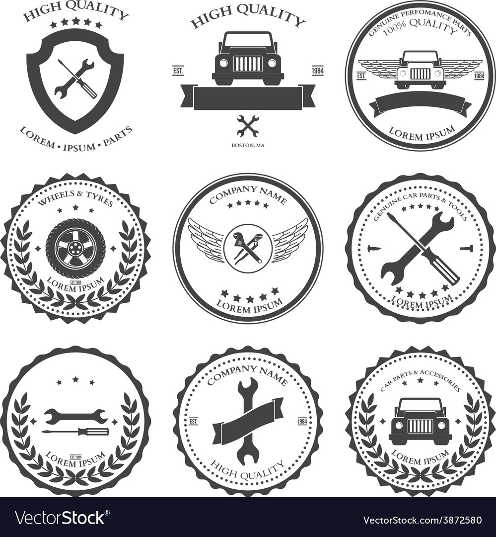 Car service auto parts and tools icons vector | Price: 1 Credit (USD $1)
