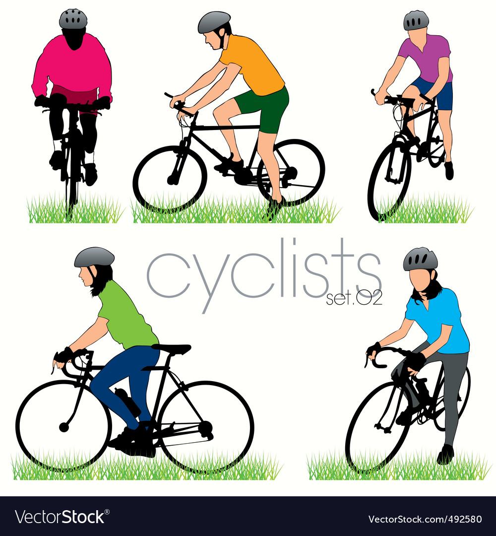 Cyclists 02 vector | Price: 1 Credit (USD $1)