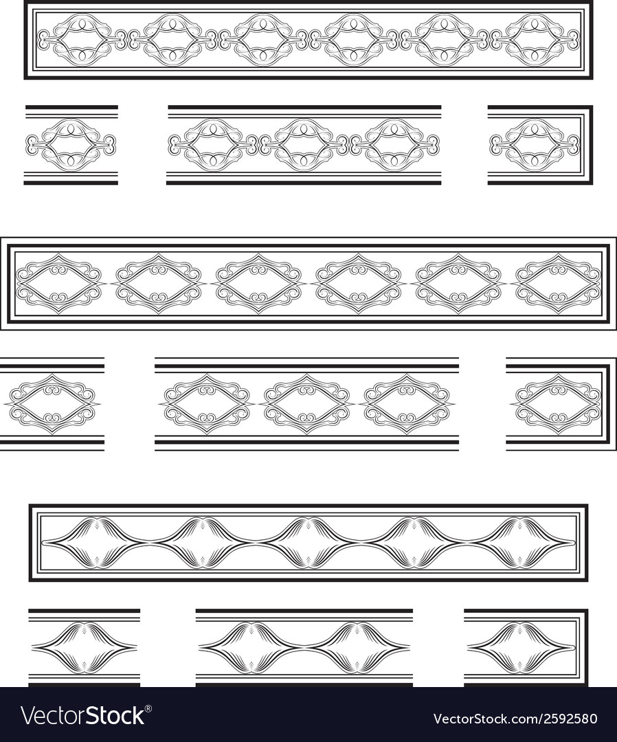 Decorative bands vector | Price: 1 Credit (USD $1)
