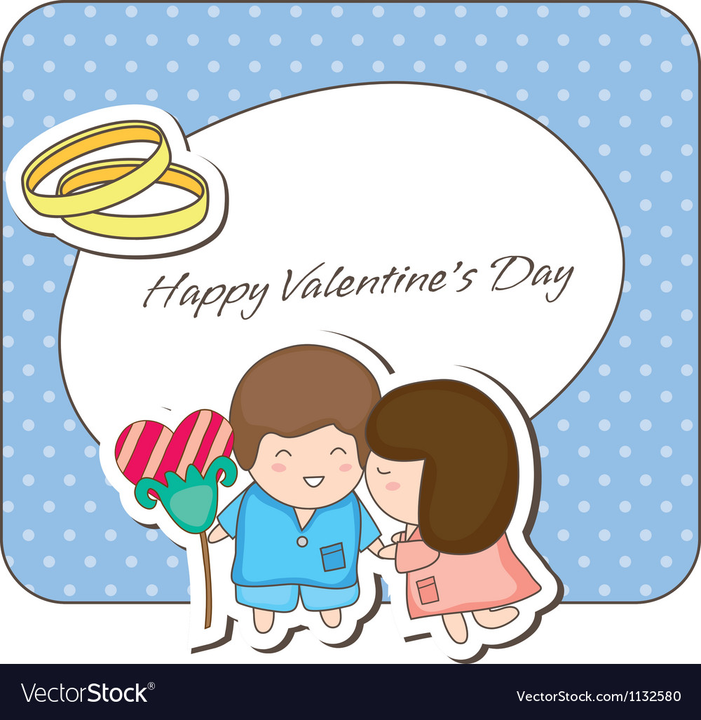 Doodle couple valentines vector | Price: 1 Credit (USD $1)
