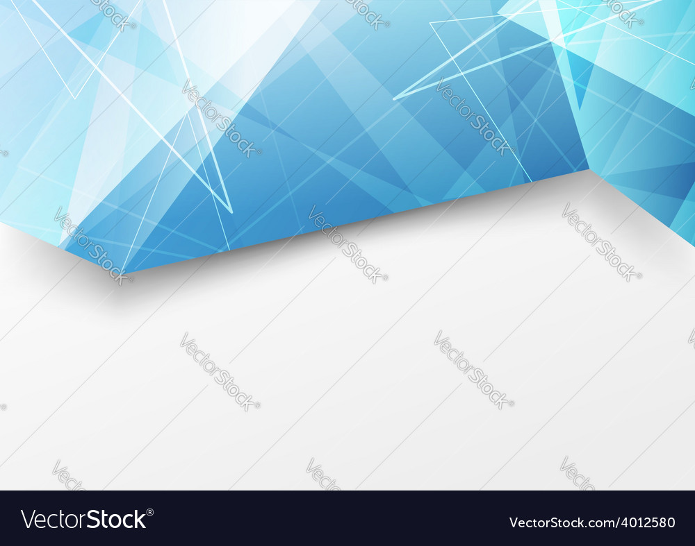 Folding crystal structure blue brochure template vector | Price: 1 Credit (USD $1)