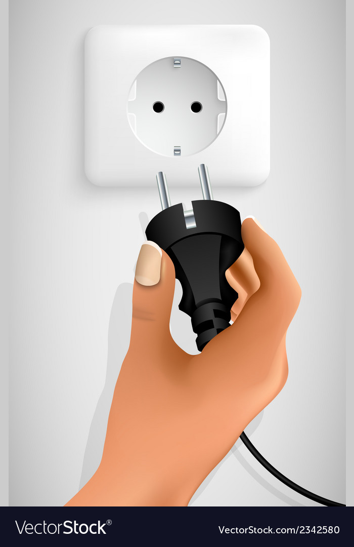 Plug in your hand vector | Price: 1 Credit (USD $1)
