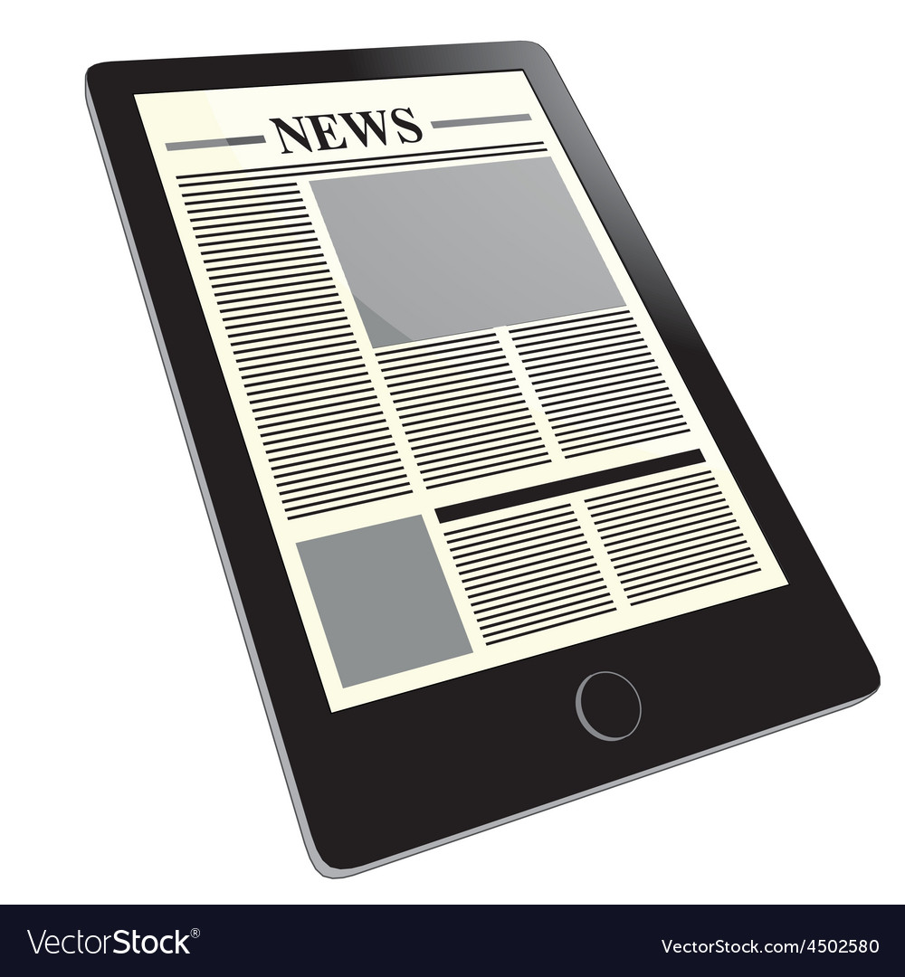Tablet news vector | Price: 1 Credit (USD $1)