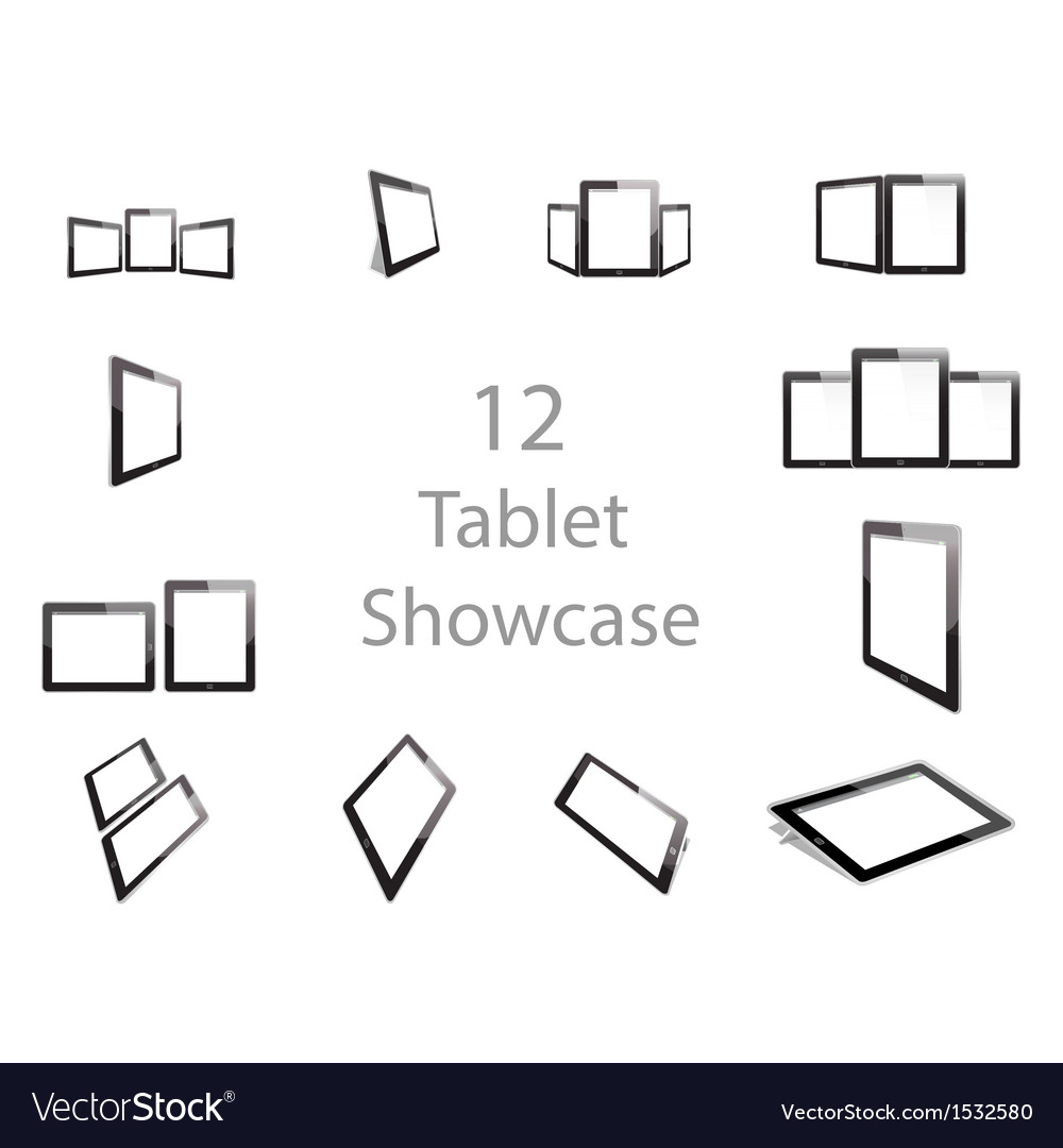 Tablet screen showcase vector | Price: 1 Credit (USD $1)