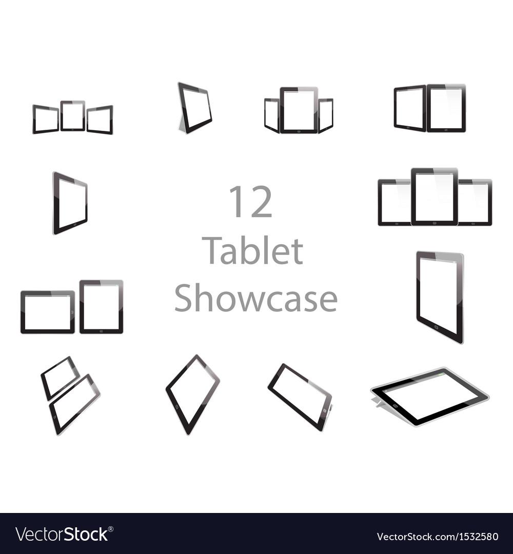 Tablet screen showcase vector | Price: 1 Credit (USD $1)
