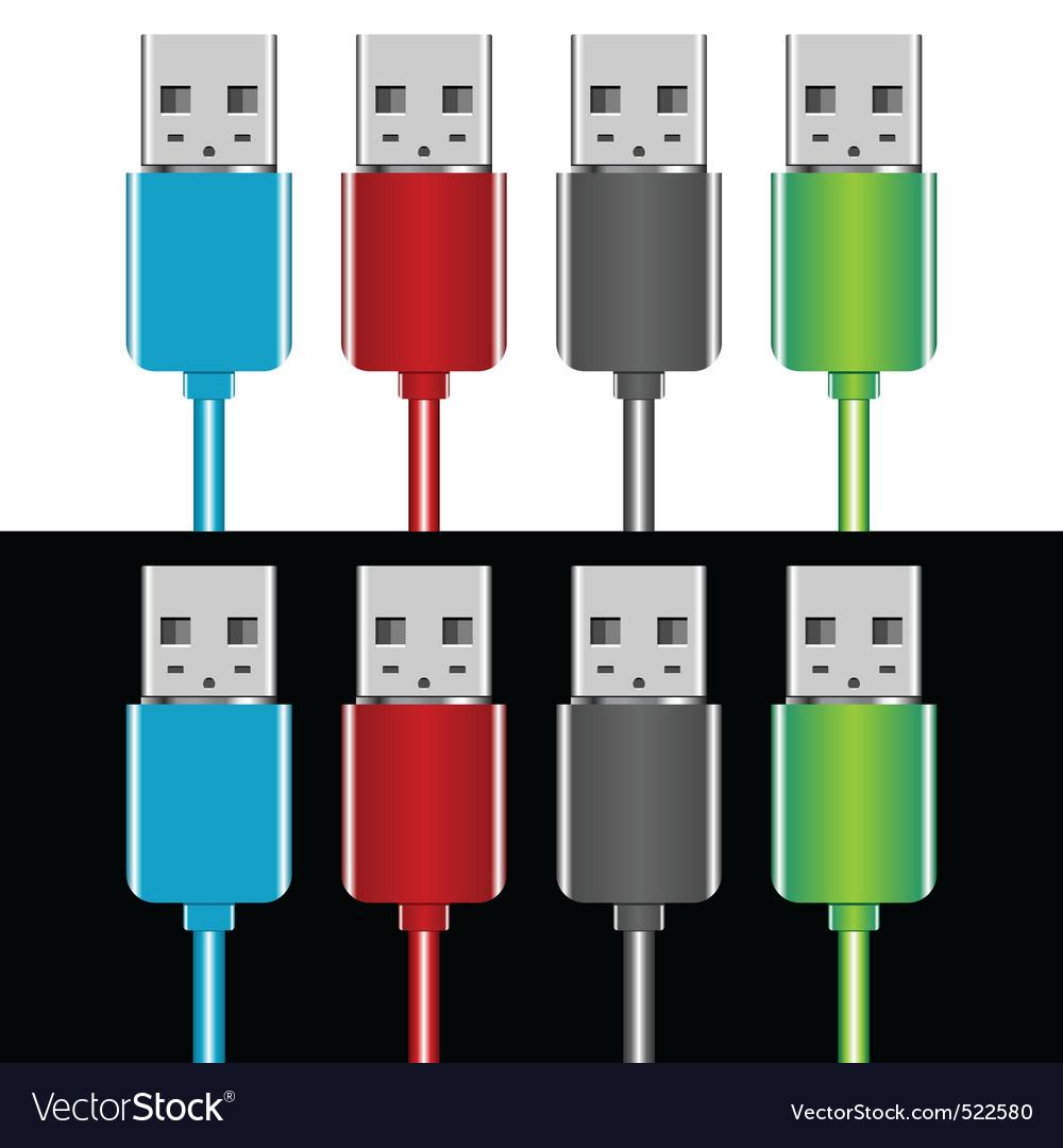 Usb plugs vector | Price: 1 Credit (USD $1)