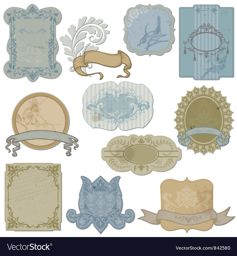 Vintage set of labels and tags vector | Price: 1 Credit (USD $1)