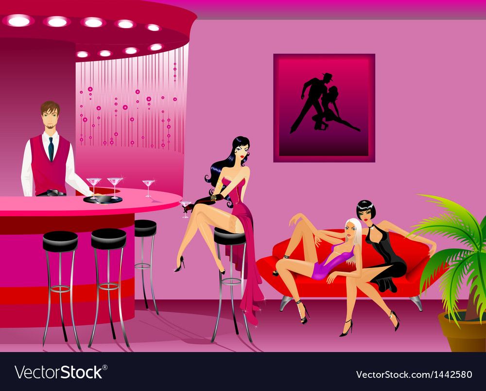 Women in a bar vector | Price: 1 Credit (USD $1)
