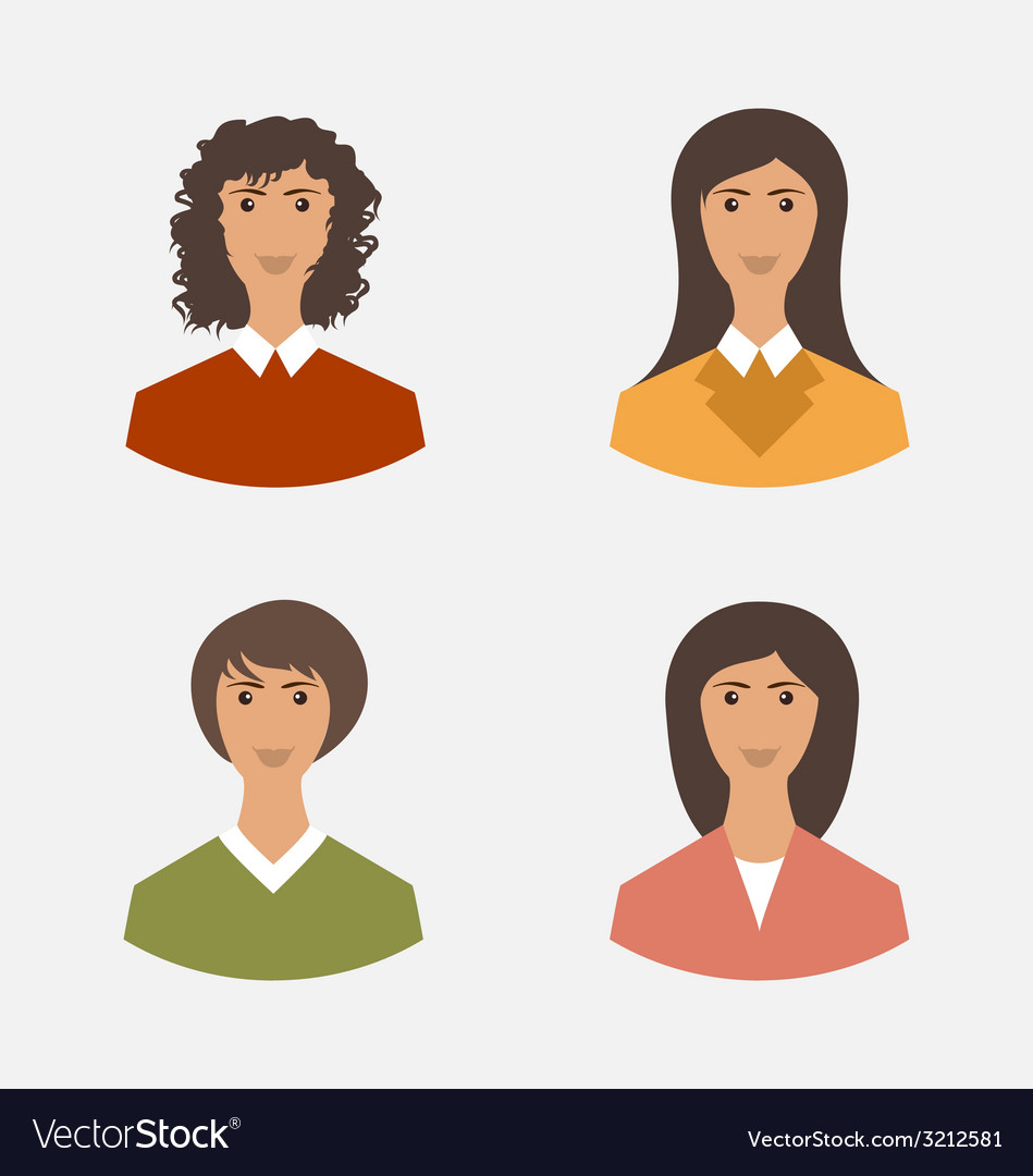 Avatar set front portrait office employee business vector | Price: 1 Credit (USD $1)