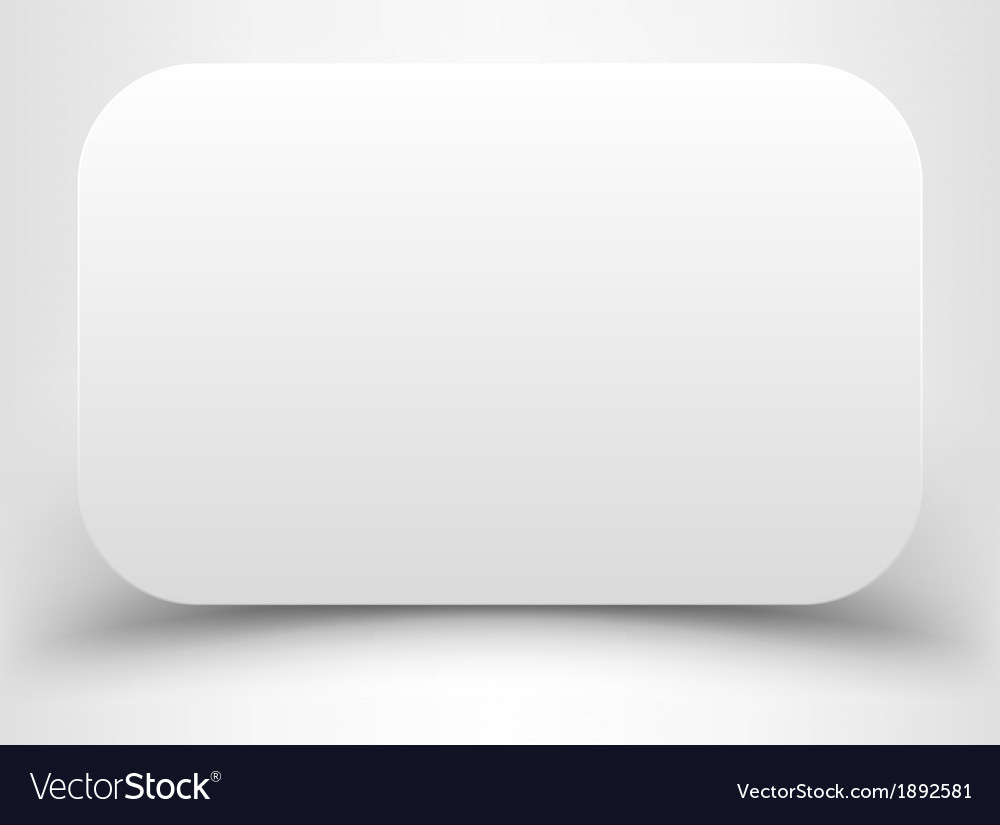 Blank white rectangle with rounded corners vector | Price: 1 Credit (USD $1)