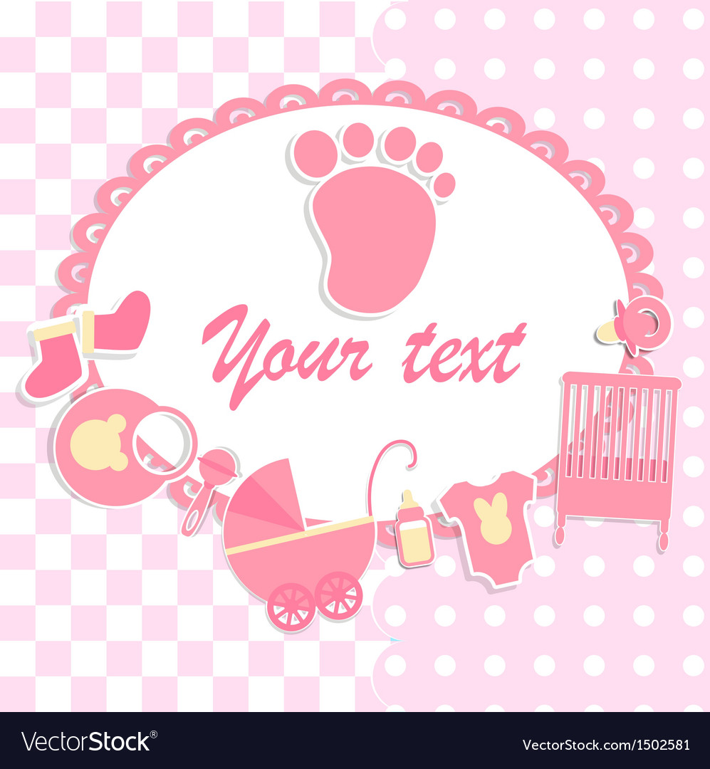 Card for newborn boy vector | Price: 1 Credit (USD $1)