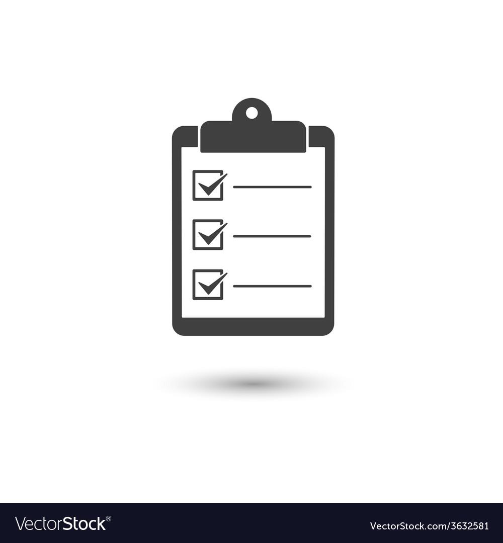 Check list icon vector | Price: 1 Credit (USD $1)