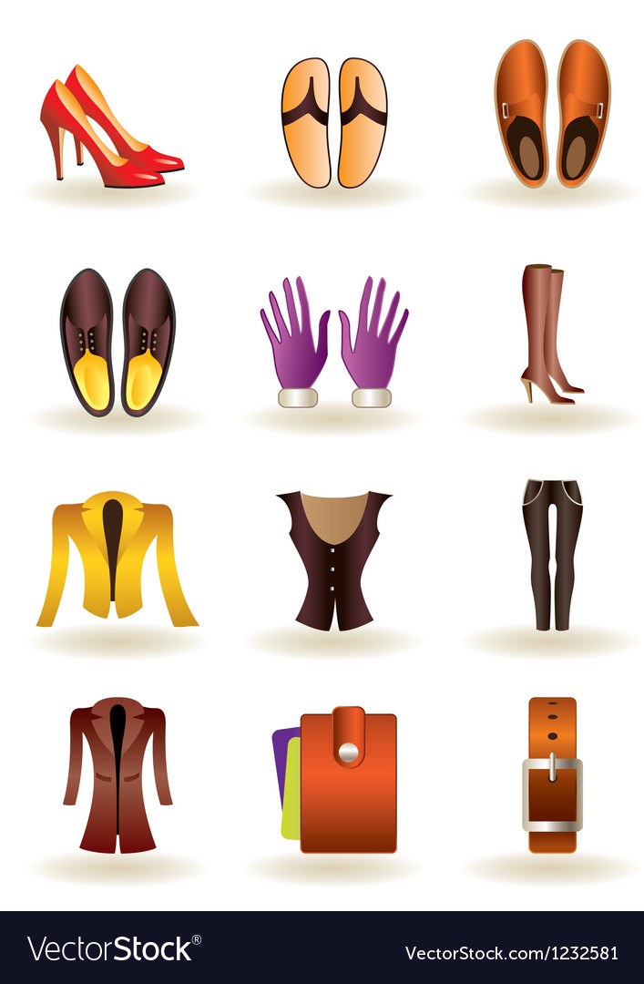 Clothing and footwear of leather vector | Price: 1 Credit (USD $1)