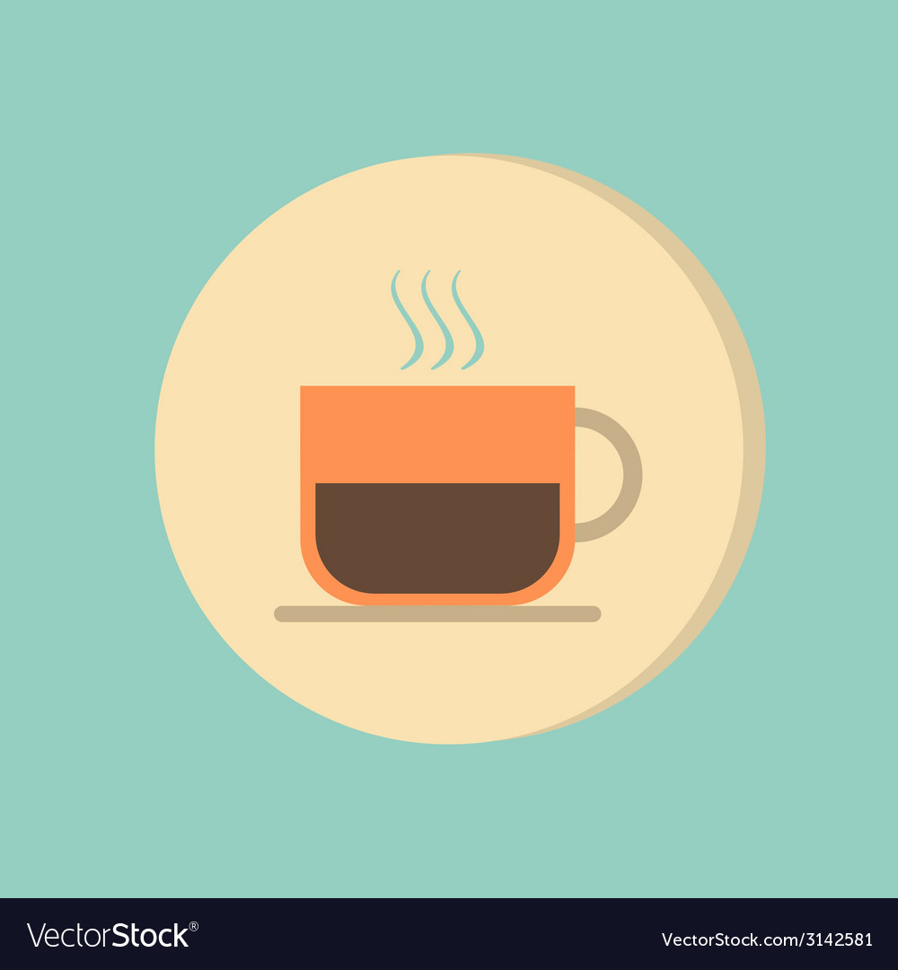Cup of hot drink symbol of hot drink icon cafe or vector   Price: 1 Credit (USD $1)