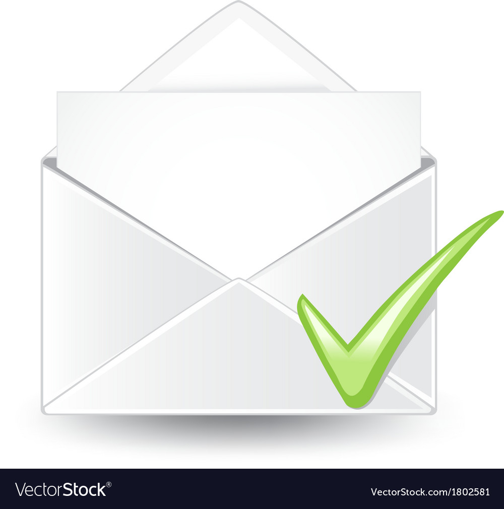 Email check vector | Price: 1 Credit (USD $1)
