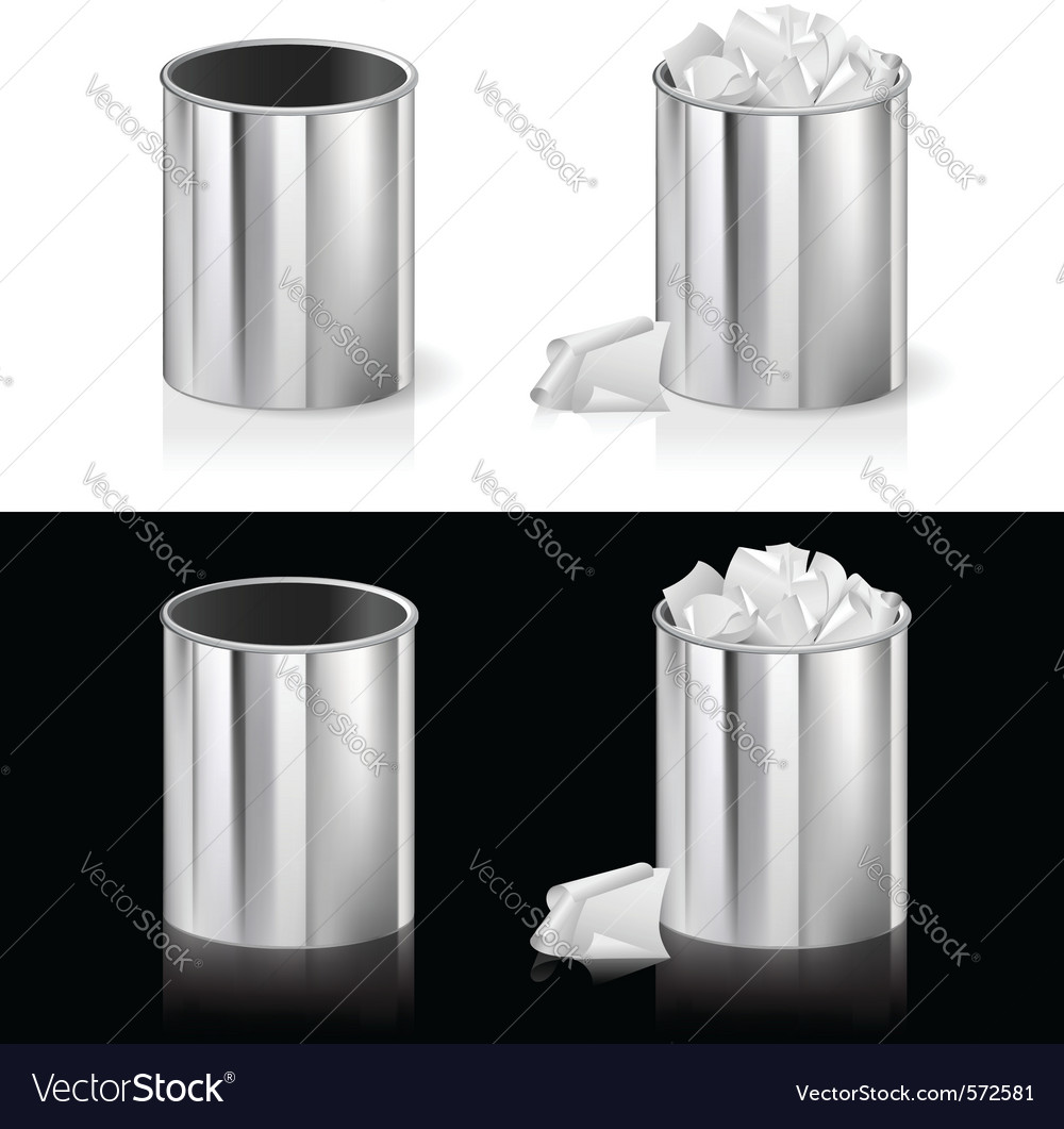 Metal rubbish bin vector | Price: 1 Credit (USD $1)