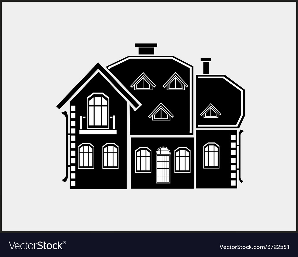 Private house vector | Price: 1 Credit (USD $1)