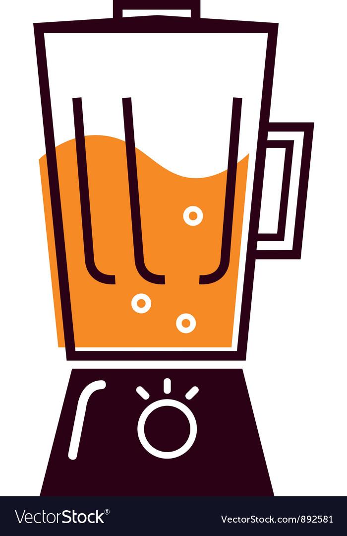 Retro kitchen blender vector | Price: 1 Credit (USD $1)