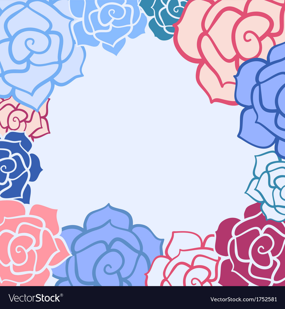 Rose flower invitation card vector | Price: 1 Credit (USD $1)