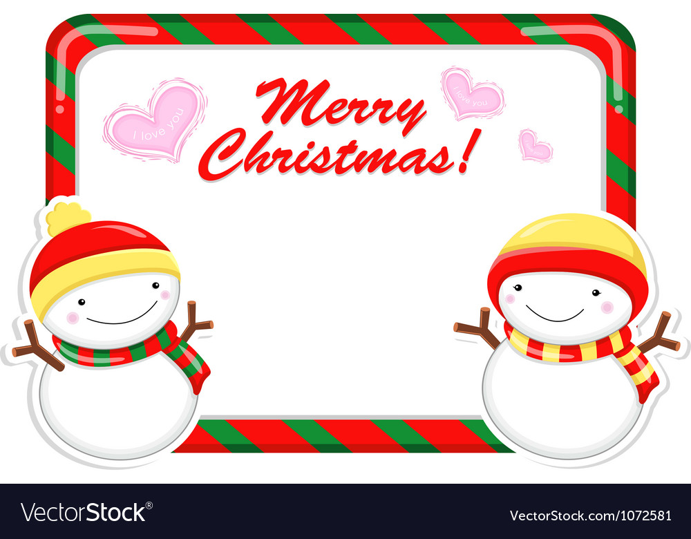 Snowman mascot using a variety of banner designs vector | Price: 1 Credit (USD $1)